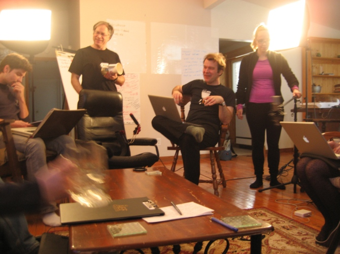 The War Room - Michael Hewlett, David Robinson, Erica Robinson, Mark Tovey - December 8 - 2012